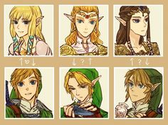 The Legend of Zelda - Link, Princess Zelda