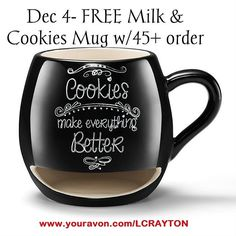 Avon Living Milk and Cookies Lover Mug Christmas Deals, 12 Days Of Christmas, Milk Cookies, Yummy Cookies, Party Points, Order Cookies, Cookie In A Mug, Biscuits, Shops