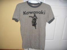 Vintage 80s Kawasaki Lake Hill Motors T Shirt | eBay