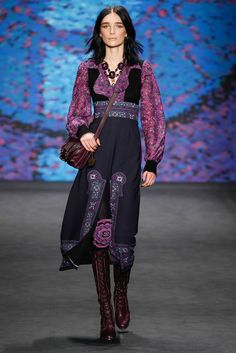 I think this would make a great office outfit (less the split up the front) from Anna Sui Fall 2015
