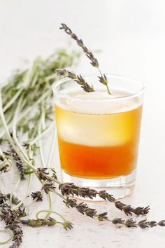 Herbal Cocktail to Try: Bottoms-Up Honey Lavender Tea Cocktail