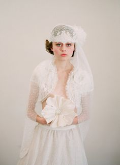 twigs and honey vintage wedding veil for a bride
