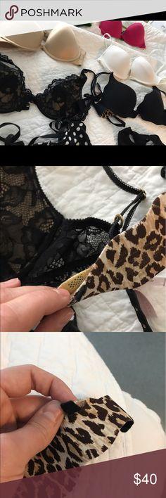 VS black bras 34B very sexy bra in work condition, can be strapless.. wear in photos // 34 C lace very sexy bra in excellent condition just never wear Victoria's Secret Intimates & Sleepwear Bras