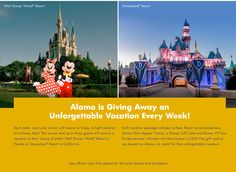 Alamo Rent A Car is giving you a chance to make your own unforgettable Disney Parks memories.
