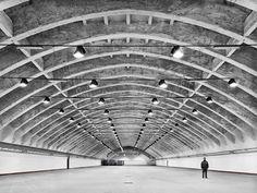 Pier Luigi Nervi |  Hangar Subterraneo | Pantelleria; Italia | hacia 1960 Photos by Luca Campigotto.