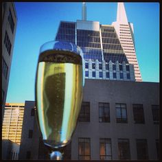 "@matt_alex_pdx's photo: ""What a great welcome to Sam Francisco! Champagne and a view at the Omni!"""