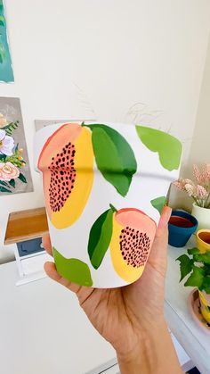Diy Home Crafts, Diy Arts And Crafts, Cute Crafts, Crafts To Do, Creative Crafts, Decor Crafts, Painted Plant Pots, Painted Flower Pots, Opening An Etsy Shop