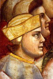 Giotto: autoritratto(?) nella Cappella Scrovegni a Padova
