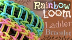 Rainbow Loom Ladder bracelet anyone?! Learn how to make it on YouTube by going to the SoCraftastic channel.  My favorite one to make!