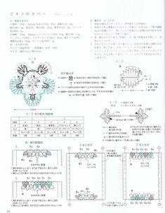 "Photo from album ""Asahi original. Fashionable Сrochet, on Yandex. Crochet Diagram, Crochet Motif, Crochet Flowers, Crochet Patterns, Crochet Brooch, Crochet Mandala, Crochet Ideas, Knit Crochet, Thing 1"