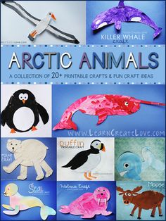 Arctic Animal Crafts Round-Up | LearnCreateLove