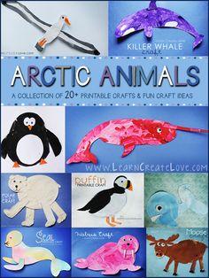 20+ Arctic Animal Crafts Round-Up | LearnCreateLove.com