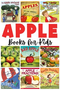 School is back in session and fall is right around the corner. This is the perfect time to learn all about apples. Here are some great apple books for kids. This list includes both fiction and nonfiction titles. September Activities, Autumn Activities, Classroom Activities, Book Activities, Classroom Ideas, Primary Classroom, Find A Book, Teaching Reading, Teaching Ideas