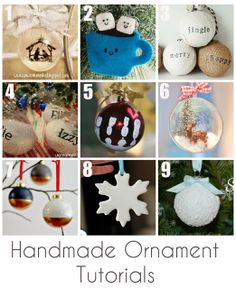 Handmade Christmas ornament tutorials; love that cocoa cup and smiling marshmallows!