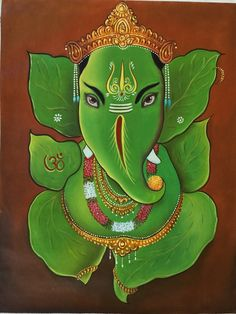 Leaf Ganesh Painting
