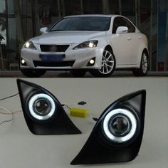 179.63$  Buy here - http://alidta.worldwells.pw/go.php?t=1770963283 - Innovative Super COB Fog Light Angel Eye Projector Lens for Lexus IS250 IS300 179.63$