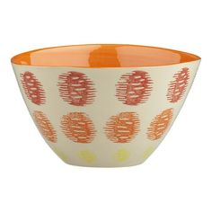 I'm not a huge fan of the color orange, but I LOVE these bowls!!