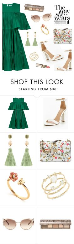 """Outfit of the Day"" by dressedbyrose ❤ liked on Polyvore featuring Jovonna, Atelier Mon, Nine West, Tai, Roberto Cavalli, Urban Decay, ootd and polyvoreeditorial"