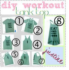 """""""diy: workout tank top ♥"""" by the-amazing-tip-chickas on Polyvore"""