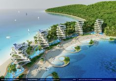 Image 21 of 47 from gallery of Vincent Callebaut Envisions Shell-Inspired Eco-Tourism Resort in The Philippines. Photograph by Vincent Callebaut Architectures Futuristic Architecture, Sustainable Architecture, Amazing Architecture, Architecture Design, Resorts In Philippines, Vincent Callebaut, Architecture Organique, Futuristic City, Future City