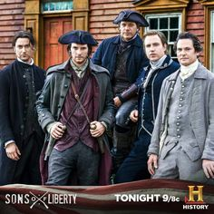 Ryan Eggold as Joseph Warren, Ben Barnes as Sam Adams, Michael Raymond-James as Paul Revere, Rafe Spell as John Hancock and Henry Thomas as John Adams