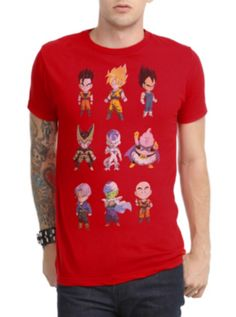 Dragon Ball Z Chibi Characters T-Shirt
