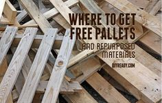 Where to get free pallets? Where to find reclaimed wood? Best tips to find free wood pallets, reclaimed wood & repurposed items for DIY pallet projects. Reclaimed Wood Projects, Diy Pallet Projects, Woodworking Projects, Fine Woodworking, Pallet Ideas, Palette Projects, Woodworking Jointer, Popular Woodworking, Woodworking Furniture