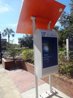Wayfinding digital signage kiosk runs on sun   Digital Signage Today