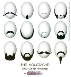 Cool The Moustache Brush set.   #beard #brush #brushes #hair #Human #moustache #mustache #peter #peterplastic #plastic