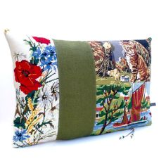 Collage French Needlepoint Tapestry Meadow by Retrocollects £40 https://www.etsy.com/shop/Retrocollects