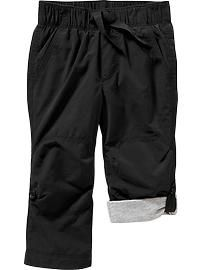 Jersey-Lined Convertible Pants for Baby