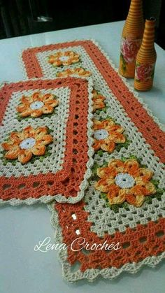 this pin was discovered by Crochet Kitchen, Crochet Home, Love Crochet, Crochet Baby, Knit Crochet, Filet Crochet, Crochet Motif, Crochet Doilies, Crochet Patterns