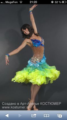Rainbow latin dress! Great for samba -- all it needs is sleeves i LOVE it