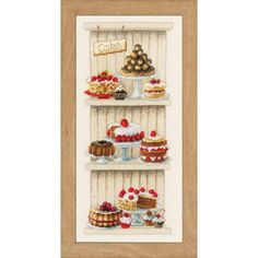 Cakes Cross Stitch Kit By Vervaco