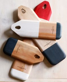 color blocked baguette boards...