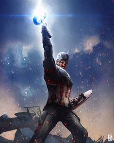 Captain America, Avengers: End Game by Jackson Caspersz Marvel Avengers, Marvel Captain America, Marvel Dc Comics, Capitan America Marvel, Marvel Fanart, Marvel Heroes, Robert Evans, Chris Evans, Marvel Characters