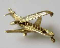 9ct Gold BOAC Comet Plane Opening Charm by TrueVintageCharms on Etsy