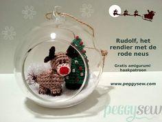 Rudolf rendiertje - gratis amigurumi haakpatroon FREE pattern also in Eng.