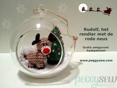 Rudolf rendiertje - gratis amigurumi haakpatroon FREE pattern also in Eng.