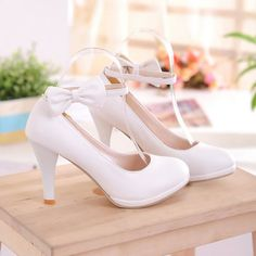 New style bowknot waterproof shoes Z-BD-A18 white size 34-Lovelyshoes.net