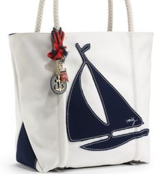 looking for life, love & laughter — Milly Large Sailboat Tote Nautical Outfits, Nautical Fashion, Nautical Tote Bags, Nautical Clothing, Marine Style, Nautical Looks, Summer Bags, Shopper, Strand