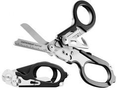 Leatherman Raptor.  420HC stainless steel and includes shears, strap cutter, carbide glass breaker, ring cutter, ruler and an oxygen tank wrench. Due for release in May 2013  Read more at http://the-gadgeteer.com/2012/12/02/leatherman-raptor-will-be-your-emergency-multi-tool/#JeAwjL1mjrjY2led.99
