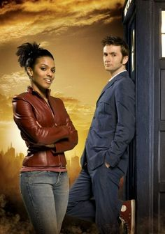 The Doctor and Martha Jones (Freema Agyeman)