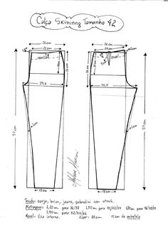 Patrón de pantalones ajustados - Patrones gratis - Tesettür Tunik Modelleri 2020 - Tesettür Modelleri ve Modası 2019 ve 2020 Dress Sewing Patterns, Sewing Patterns Free, Sewing Tutorials, Clothing Patterns, Sewing Pants, Sewing Clothes, Diy Clothes, Jumpsuit Pattern, Pants Pattern
