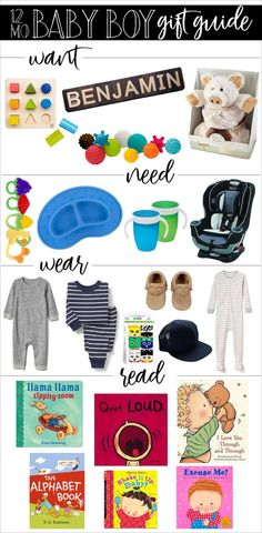 Baby Boy 1st Birthday Gift Guide: Want, Need, Wear, Read