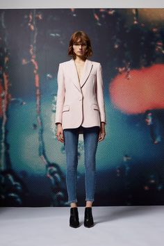 Master the laid-back cool look with these MOTO mid rise, ankle grazing skinny jeans in mid blue super soft denim. Style with a red statement turtle neck with billowed sleeves for a pop for colour. Add embellished loafers to mix up your look. Topshop Style, Topshop Unique, Girls World, Stretch Denim, How To Look Better, Skinny Jeans, My Style, Coat, How To Wear