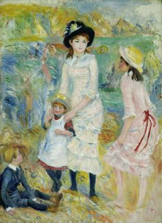 Pierre Auguste Renoir, Children on the Seashore, Guernsey, c.1883 ▓█▓▒░▒▓█▓▒░▒▓█▓▒░▒▓█▓ Gᴀʙʏ﹣Fᴇ́ᴇʀɪᴇ ﹕ Bɪᴊᴏᴜx ᴀ̀ ᴛʜᴇ̀ᴍᴇs ☞ http://www.alittlemarket.com/boutique/gaby_feerie-132444.html ▓█▓▒░▒▓█▓▒░▒▓█▓▒░▒▓█▓