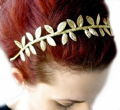 On Sale Grecian Goddess Gold Leaf Crown Headband  by RoseoftheMire, $28.80