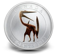 Prehistoric Creature 25 cent glow-in-the-dark coin.  Limited mintage. Canada