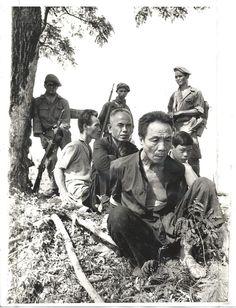 1970 Original Photo VIETNAM WAR Cambodian Soldier With VIET CONG Suspects